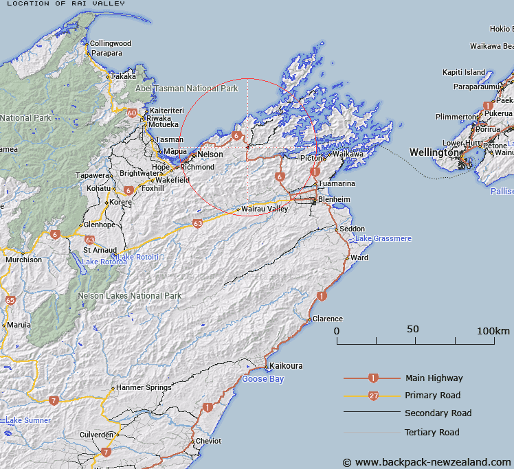 Where Is Rai Valley Map New Zealand Maps