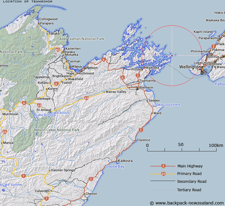 Tewhaimoa Map New Zealand