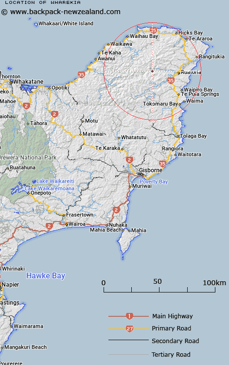 Wharekia Map New Zealand