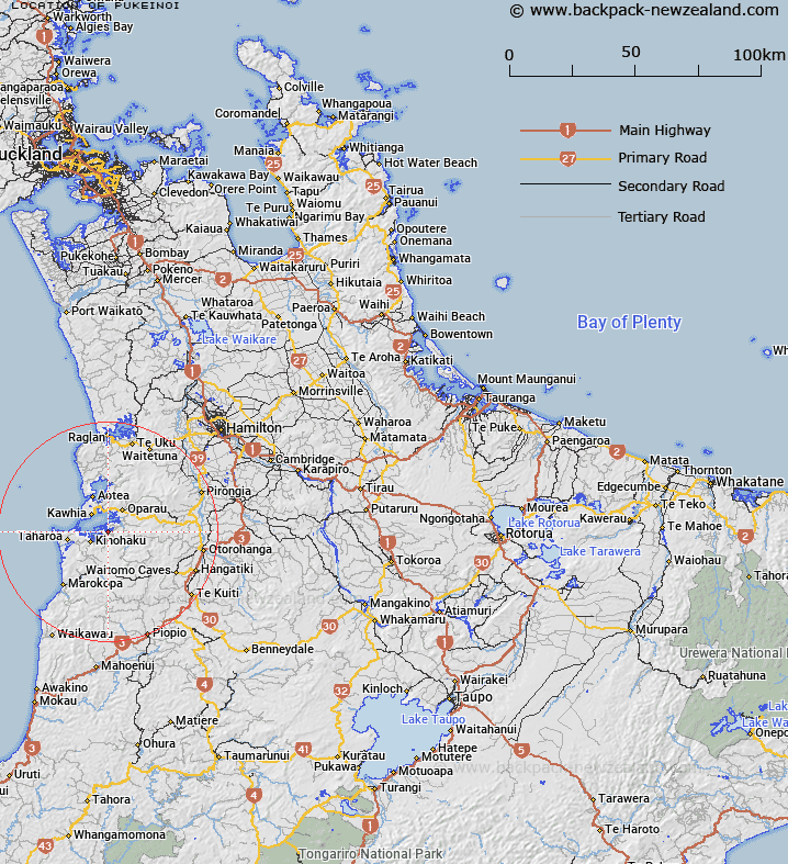Pukeinoi Map New Zealand