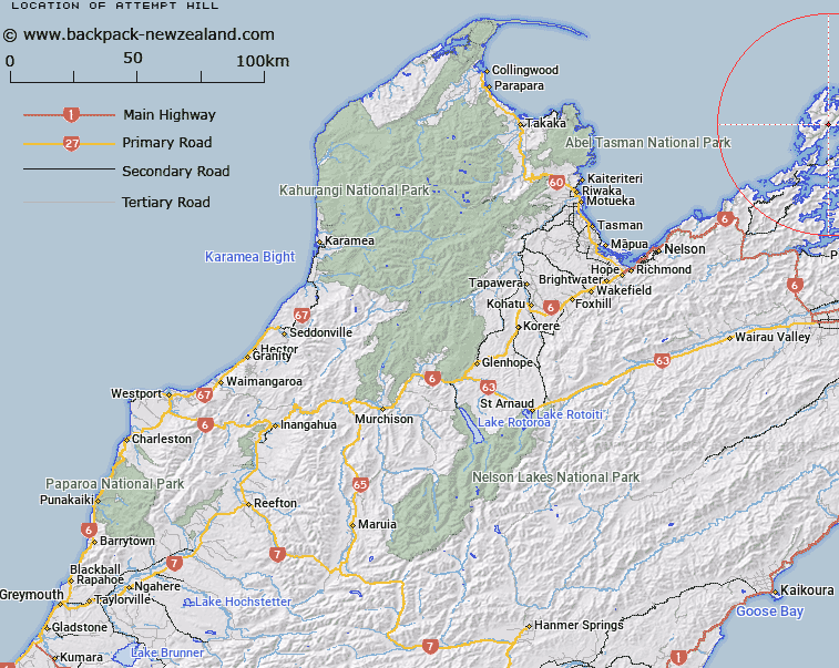 Attempt Hill Map New Zealand