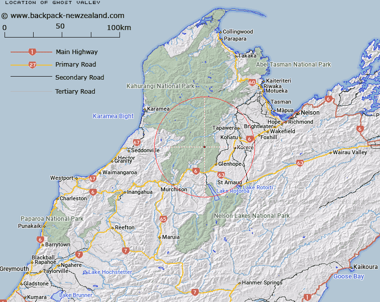 Ghost Valley Map New Zealand