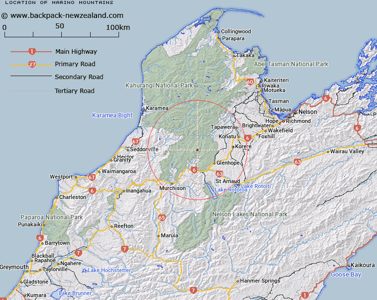 New Zealand Mountains Map.Where Is Marino Mountains Map New Zealand Maps