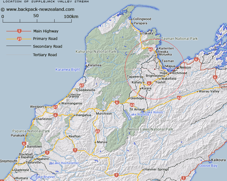Supplejack Valley Stream Map New Zealand