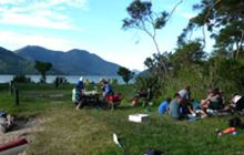 Moetapu Bay Campsite . Pelorus Sound/Te Hoiere and Kenepuru Sound area