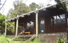 Waiaua Gorge Hut . Egmont National Park