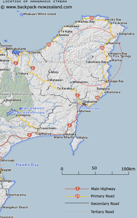 Mangahoui Stream Map New Zealand